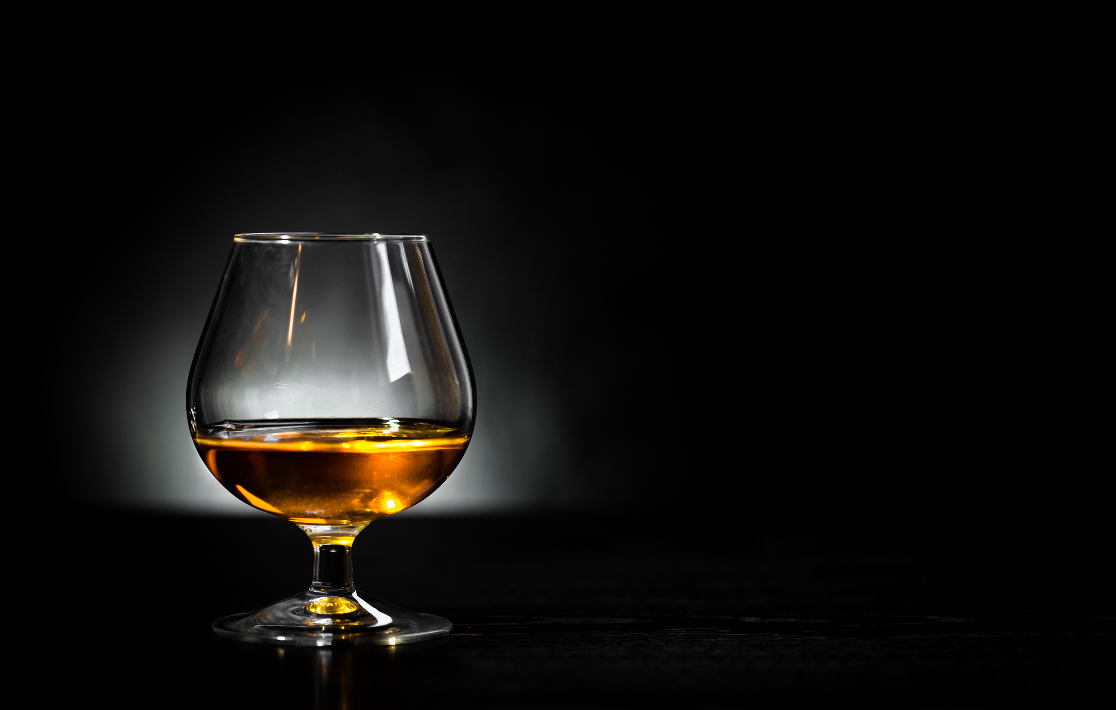 Cognac glass in black