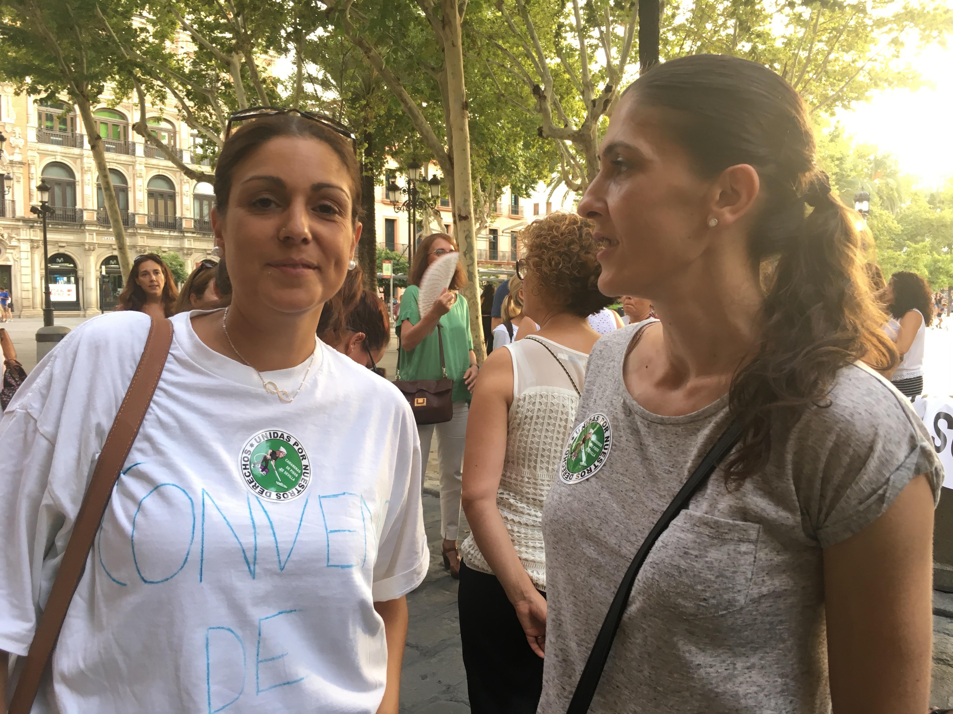 Silvia y Valle, concentración camareras